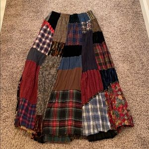 Vintage Patchwork Maxi Skirt
